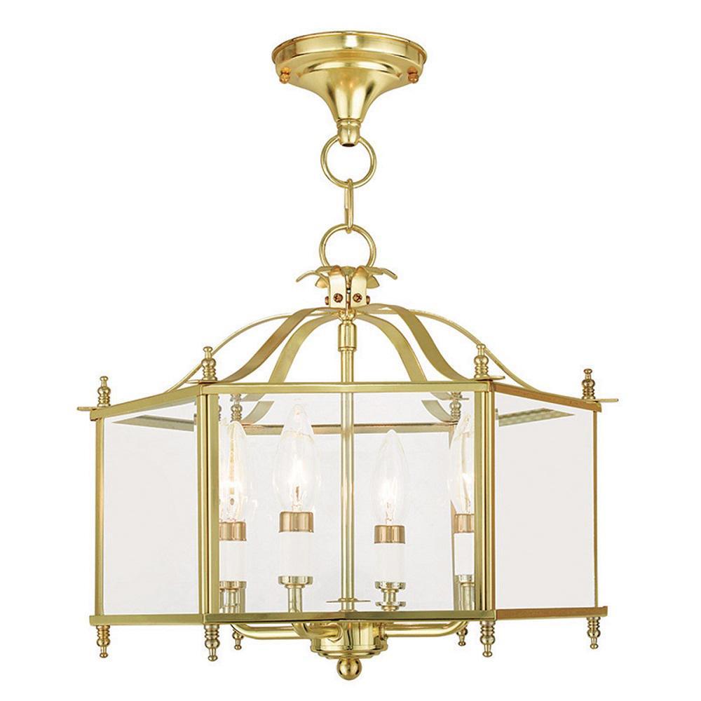 Livingston 4-Light Polished Brass Pendant