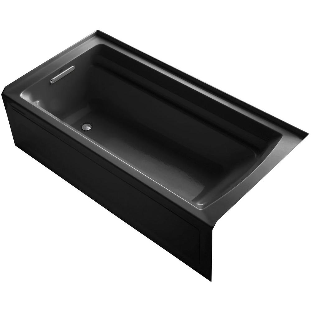 KOHLER Archer VibrAcoustic 6 ft. Left Drain Rectangular Alcove ...