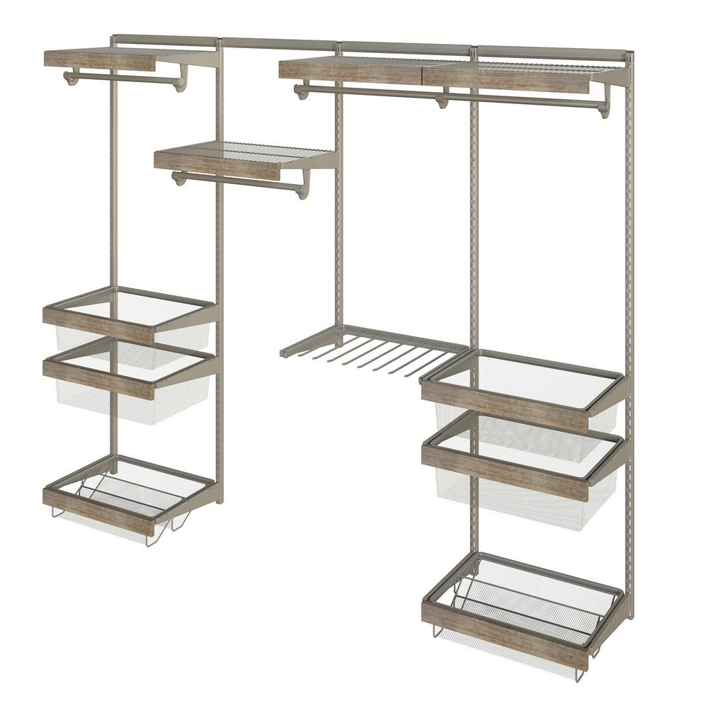 Closet Culture 16 in. x 96 in. W x 78 in. H Wire Closet System with ...