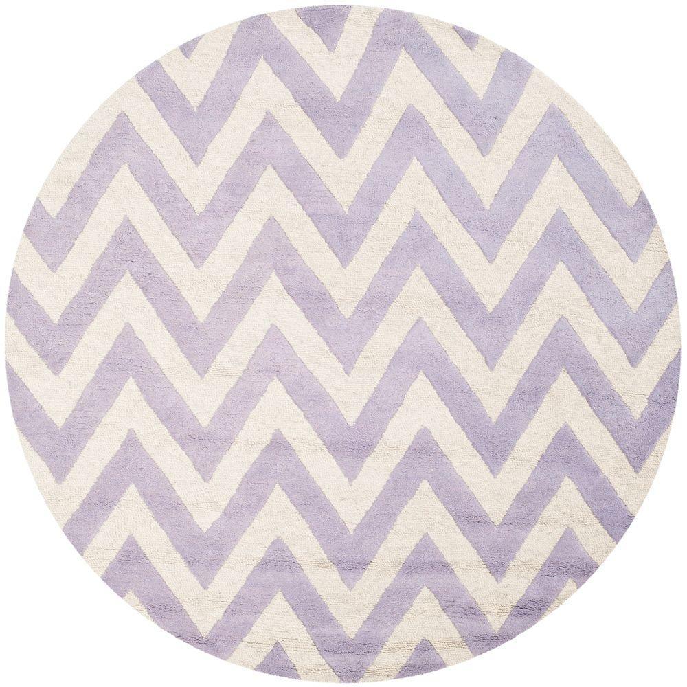 Safavieh Cambridge Lavender/Ivory 6 ft. x 6 ft. Round Area Rug