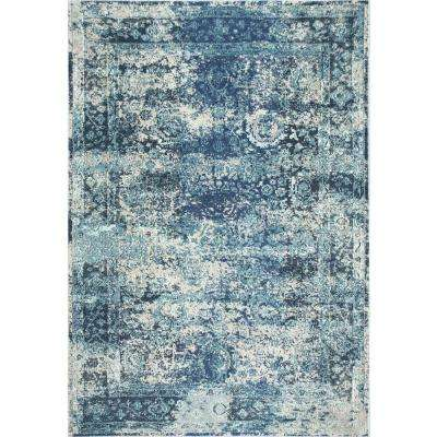 Vintage Shuler Ocean Blue 5 ft. 3 in. x 7 ft. 7 in. Area Rug