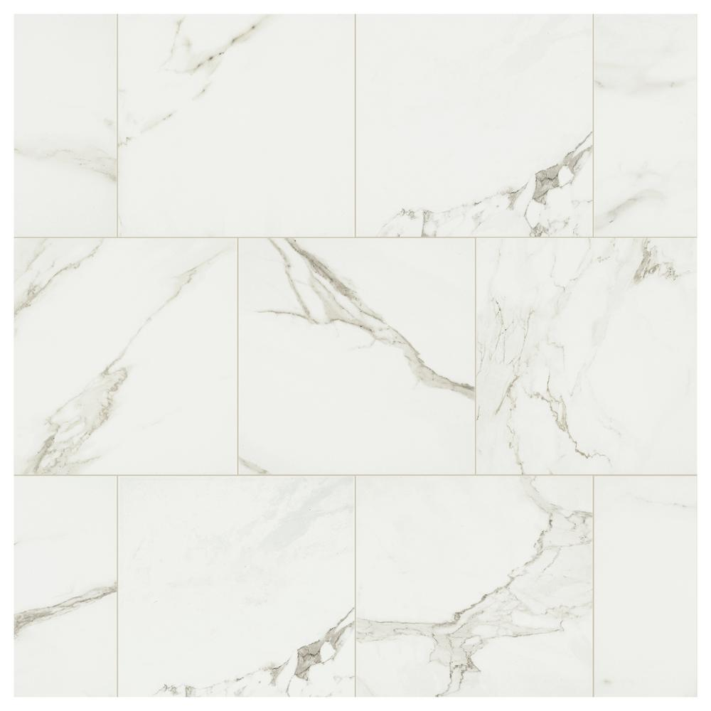 Marazzi Developed by Nature Calacatta 12 in. x 12 in. Glazed Porcelain Floor and Wall Tile (14.55 sq. ft. / case)