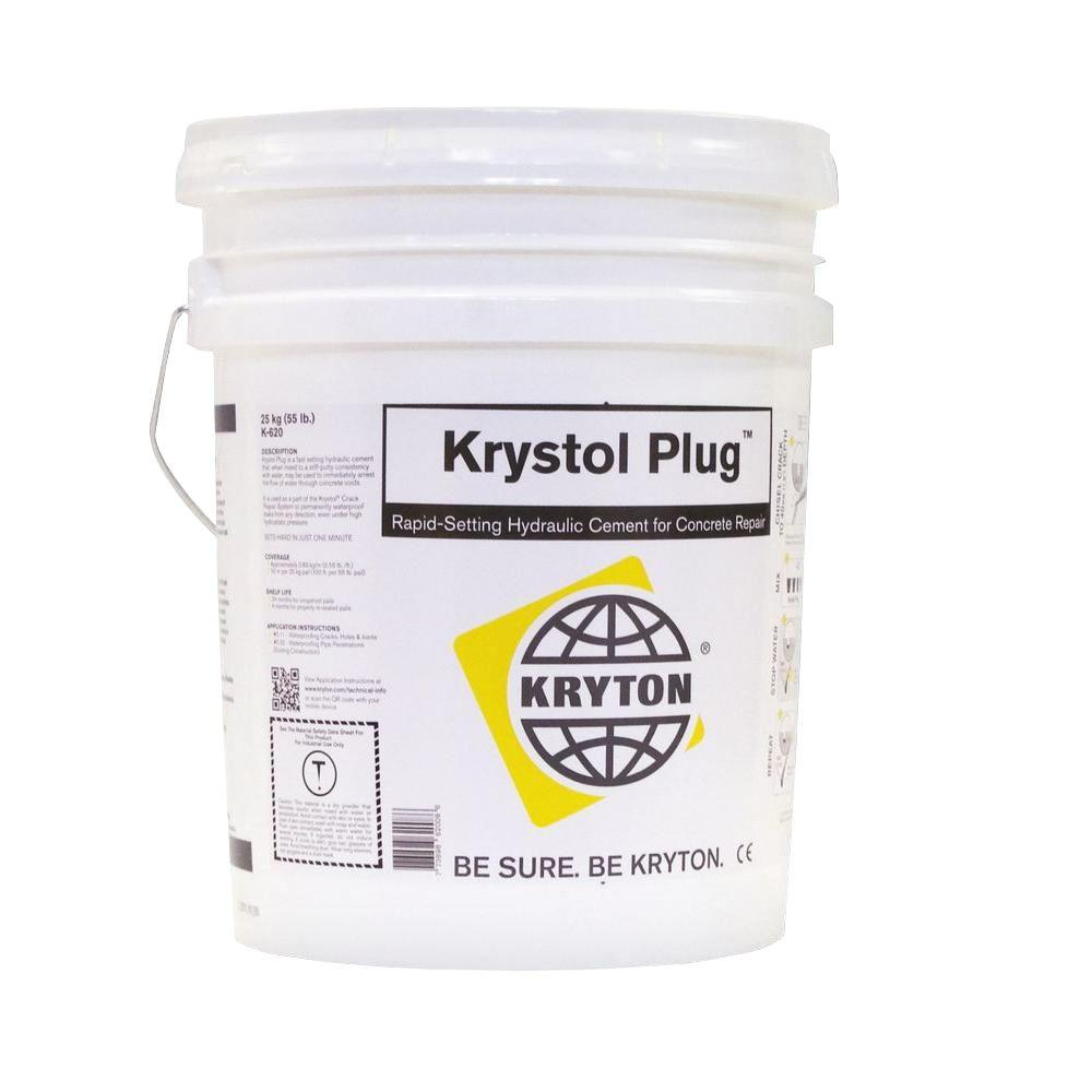 Colored Hydraulic Cement : Krystol plug lbs of rapid setting concrete repair