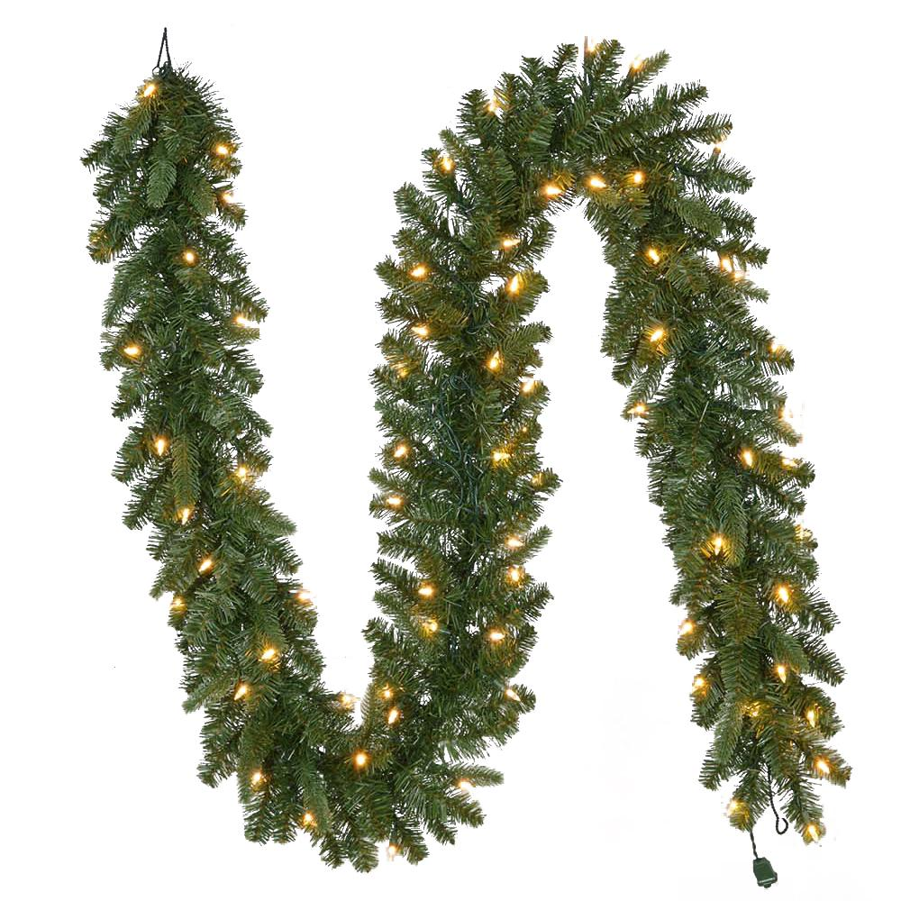 home accents holiday 9 ft pre lit led sierra nevada garland with