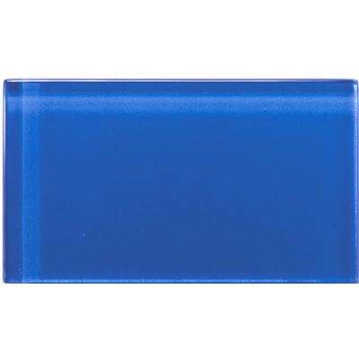 Lucente Azul Royale 3.15 in. x 6.46 in. Glass Wall Tile
