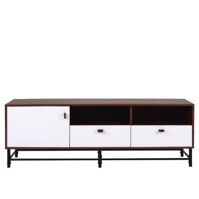 20 in. Dark Brown Wood TV Stand with 2 Drawer Fits TVs Up to 55 in.