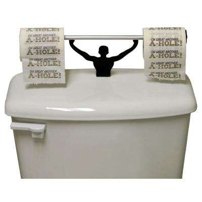 Wipe Ass Another Hole Toilet Paper in Multi-Color with Strong Man Holder Gift Set