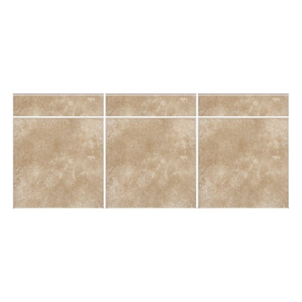 Daltile Catalina Canyon Noce 3 in. x 12 in. Porcelain Bullnose Floor and Wall Tile (0.25702 sq. ft. / piece)