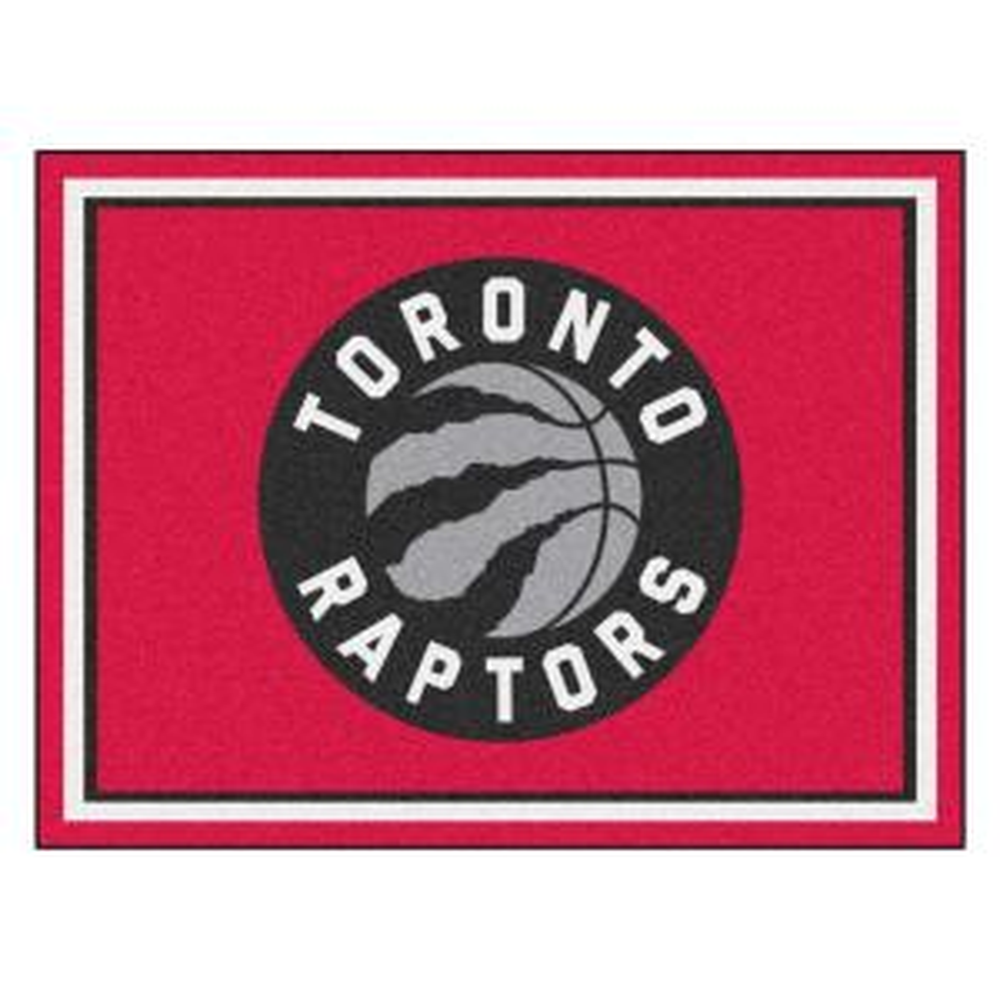 NBA Toronto Raptors Red 8 ft. x 10 ft. Indoor Area Rug