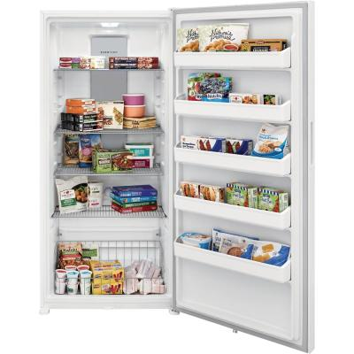 20 cu. ft. Frost Free Upright Freezer in White with Reversible Door
