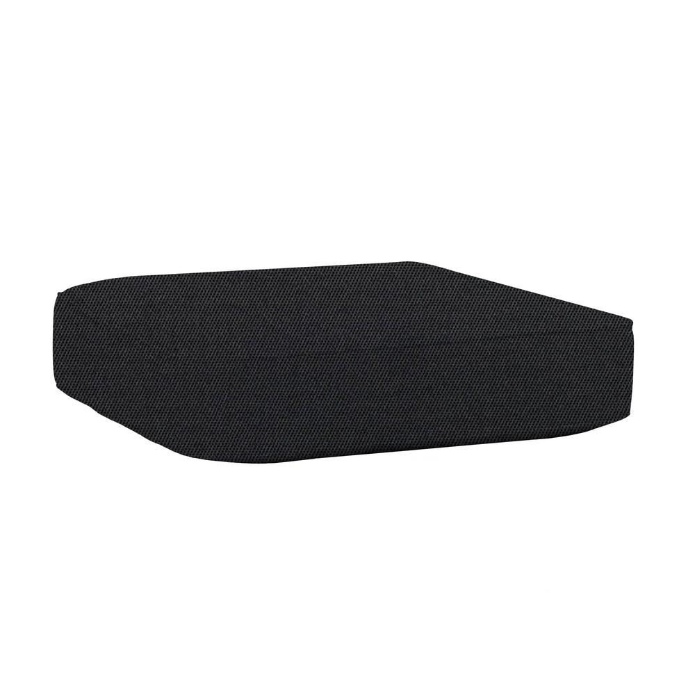 Commercial Grade Outdoor Ottoman Cushion in Sunbrella Canvas Raven Black