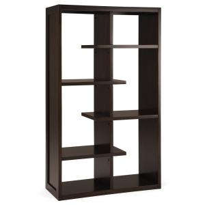 Deals on Simpli Home 60 in. Chestnut Brown Wood 4-Shelf Accent Bookcase