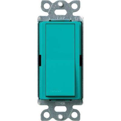 Diva Satin Colors 15 Amp 4-Way Switch, Turquoise