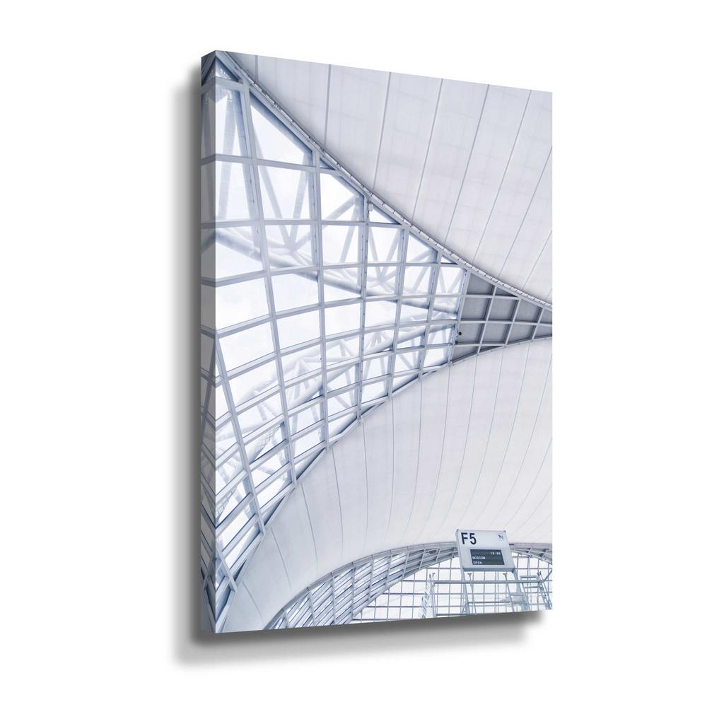 ArtWall Airport' by PhotoINC Studio Canvas Wall Art, White This beautiful gallery wrapped canvas art is the perfect piece of wall decor for that bare wall. Display this gorgeous wall art decor in the living area with some brushed nickel sconces. Hang this artwork in the dining area for a wonderful conversation piece. Color: White.