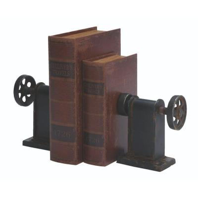 Industrial Rustic Black Bookend (Set of 2)