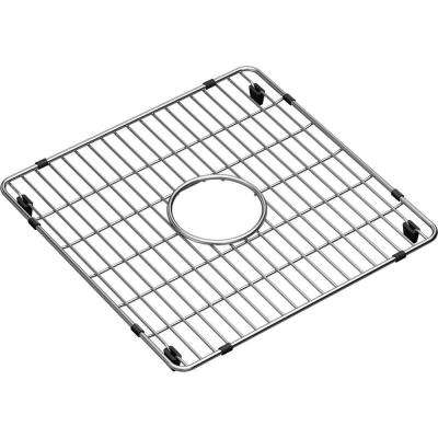 Crosstown 14.375 in. x 14.375 in. Bottom Grid for Kitchen Sink in Stainless Steel