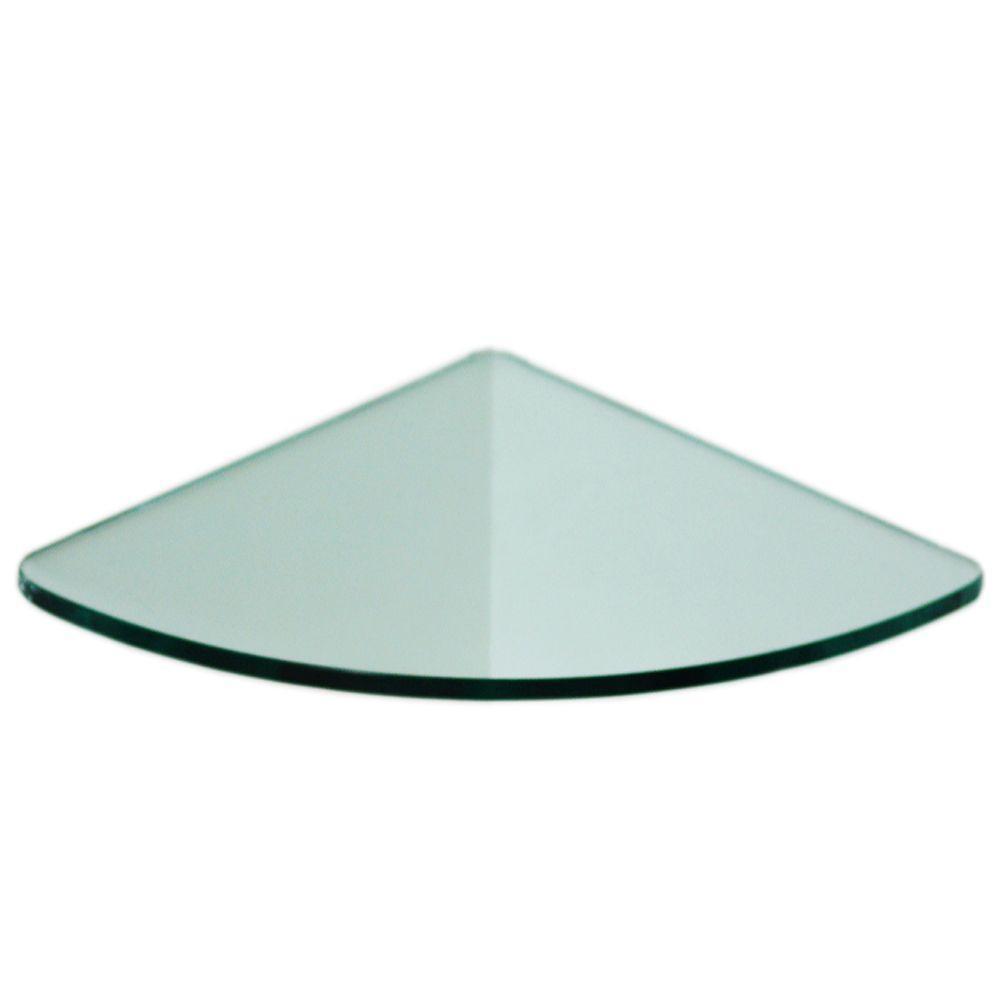 Floating Glass Shelves 1/4 in. Curve Glass Corner Shelf (Price ...