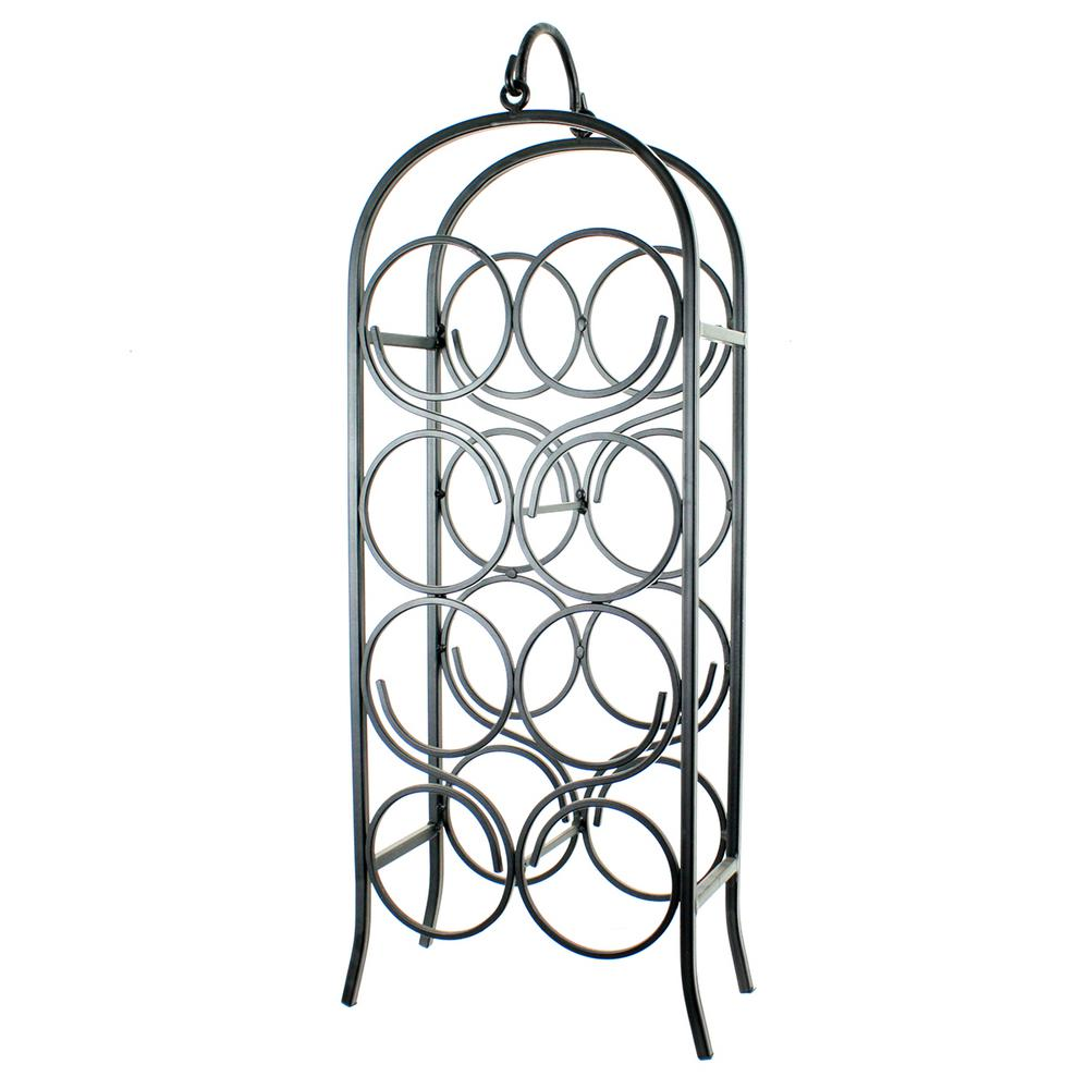 8-Bottle Black Wine Arch Rack