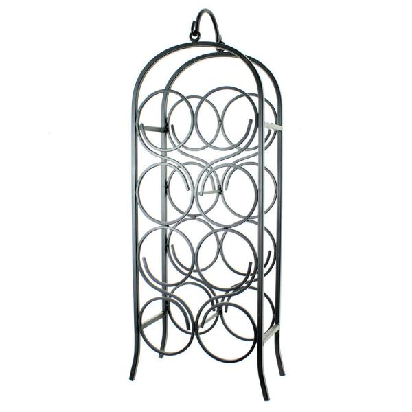 Oenophilia 8-Bottle Black Wine Arch Rack 010032