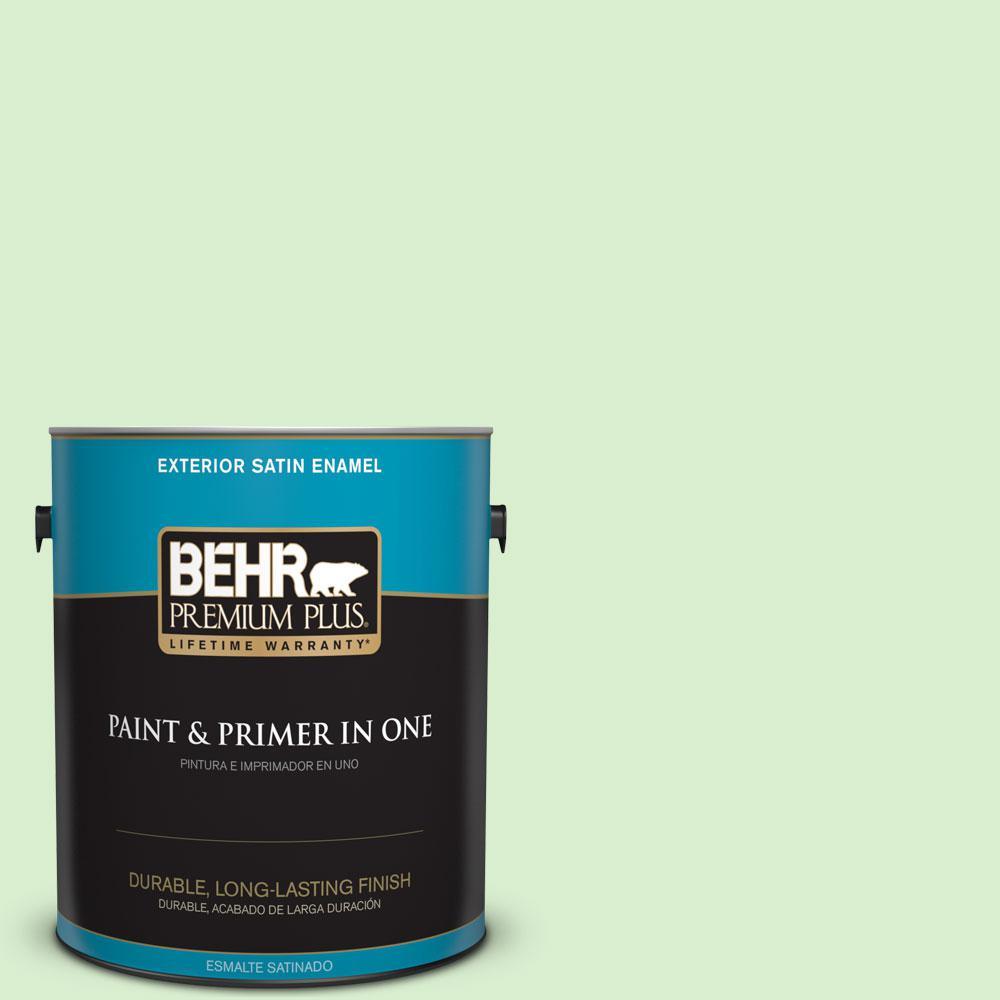 1-gal. #430A-2 Seafoam Spray Satin Enamel Exterior Paint