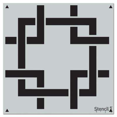 Square Lattice Repeat Pattern Stencil