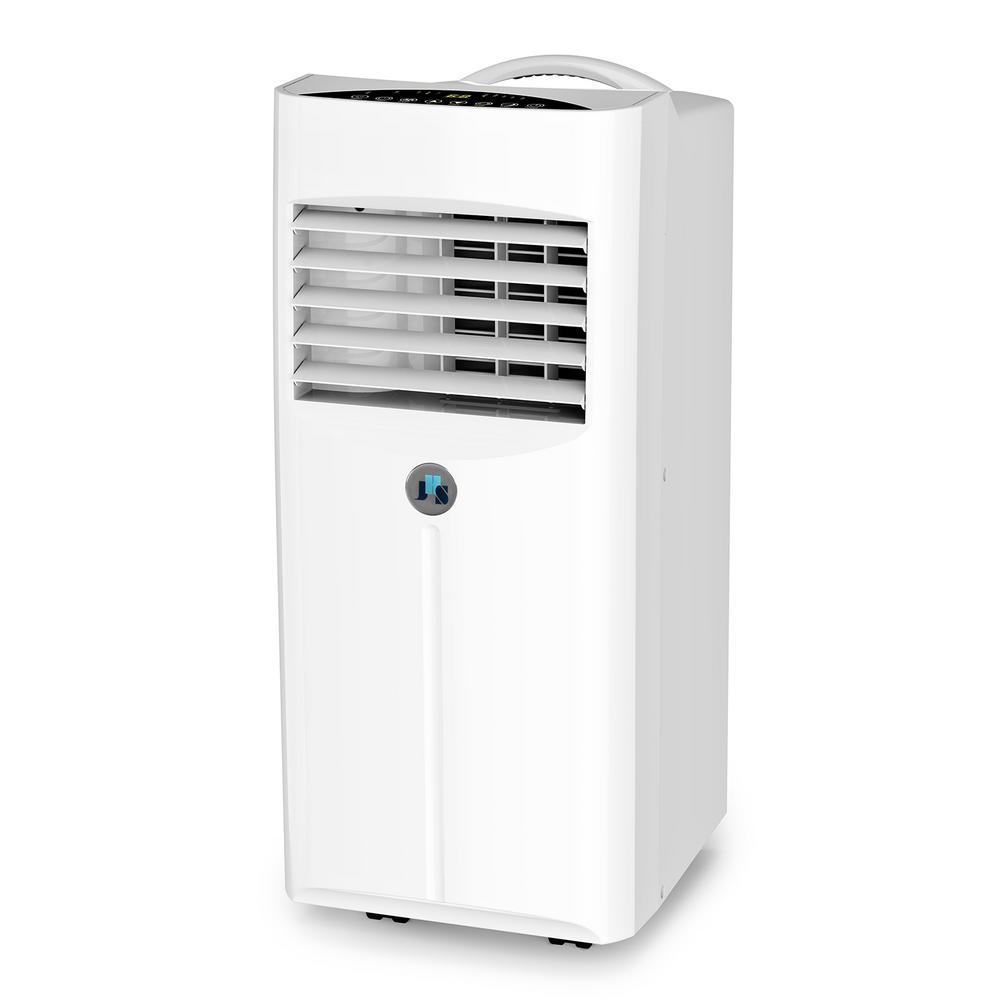 JHS 10,000 BTU Portable Air Conditioner with Dehumidifier, Fan, Remote Control, Digital LED Display, 220 Sq. ft. in White