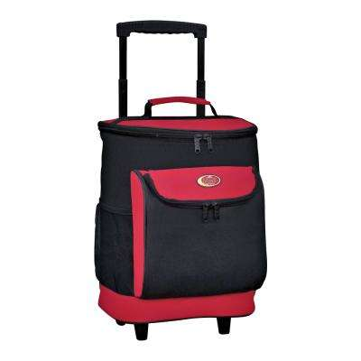 "30 Qt. ""Cool Carry"" Softside Rolling Cooler in Red"