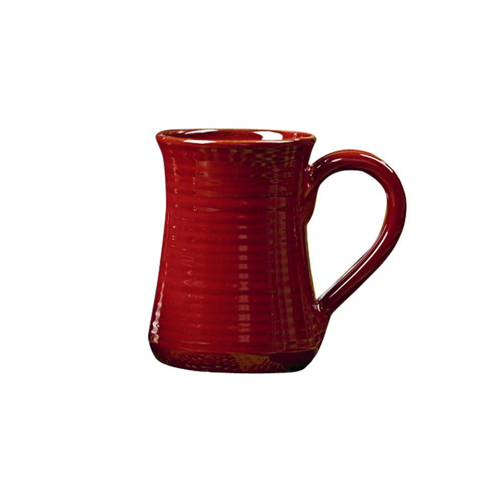 Aspen 18 oz. Red Ceramic Coffee Mug (Set of 4)