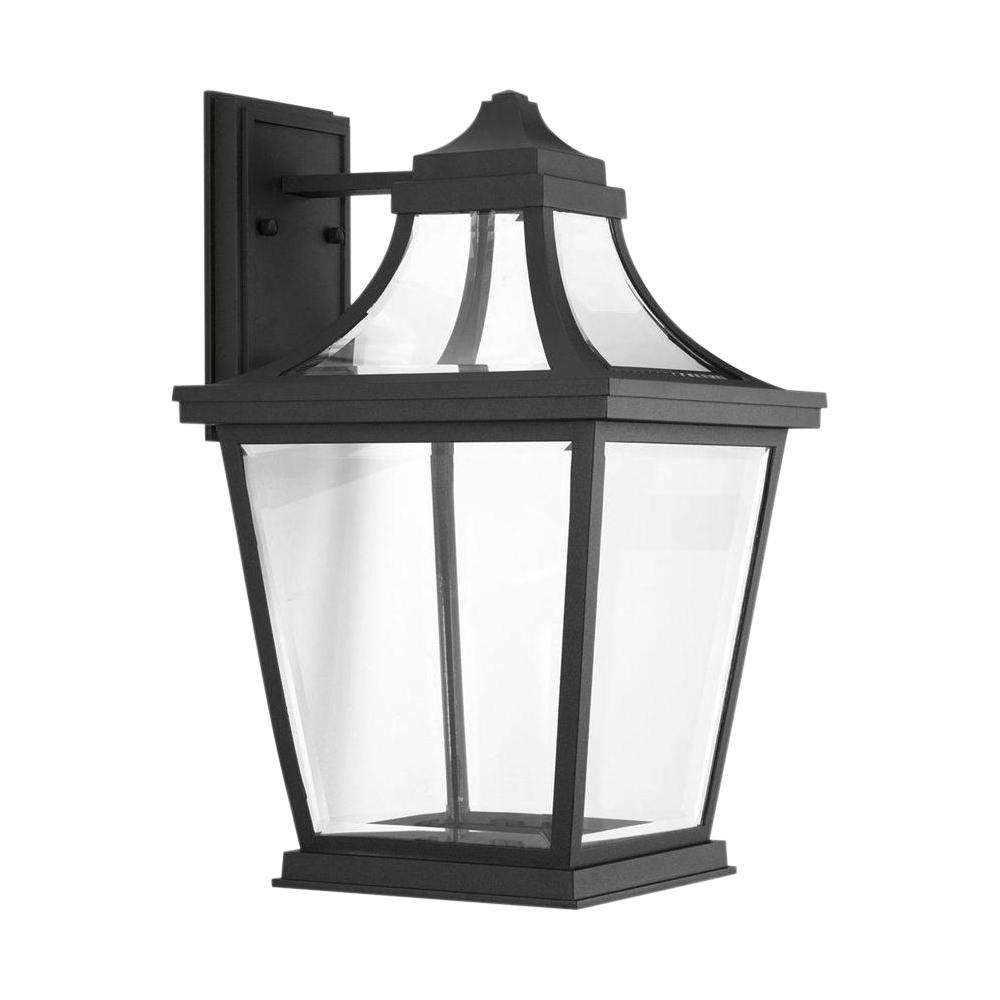 Progress Lighting Endorse Collection 1-Light 17.75 in. Outdoor Black LED Wall Lantern Sconce