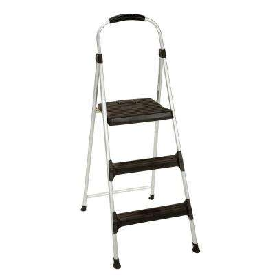 3-Step Signature Aluminum Step Stool Ladder with Plastic Steps