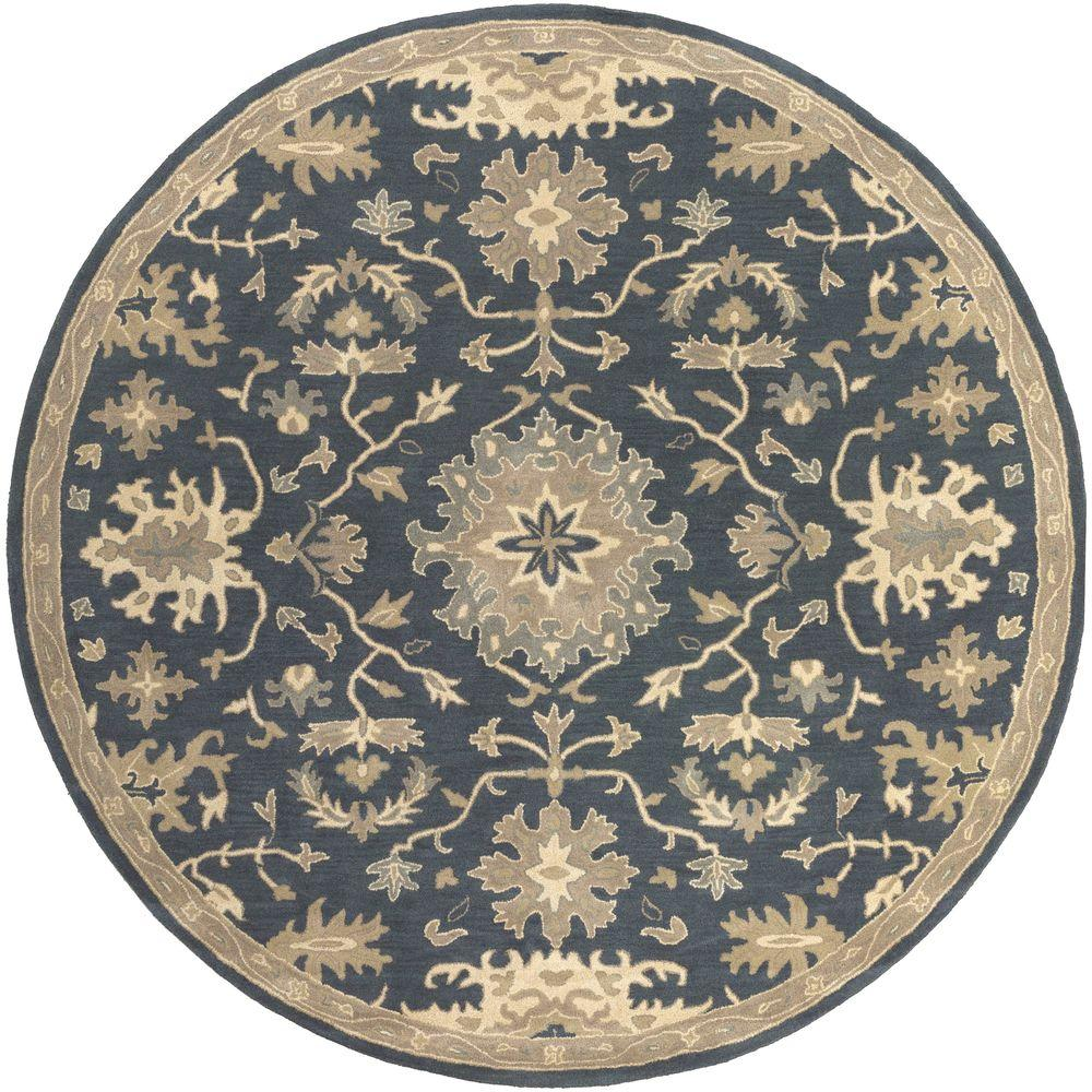 artistic weavers gilgamesh navy 4 ft x 4 ft round indoor area rug s00151007737 the home depot. Black Bedroom Furniture Sets. Home Design Ideas