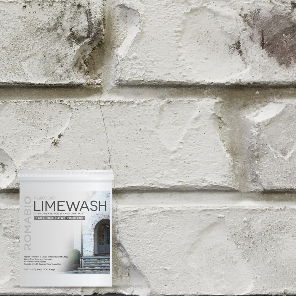 1 qt. Cristallo White Limewash Interior/Exterior Paint