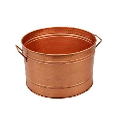 Hammered Pattern Copper Galvanized Farmhouse Style Tub