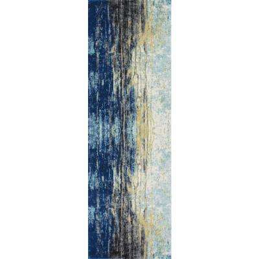 Katharina Blue 3 ft. x 8 ft. Runner Rug