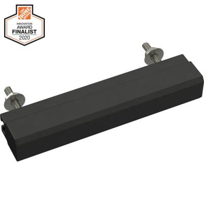 Tapered Edge 1 in. to 4 in. (25 mm to 102 mm) Matte Black Adjustable Drawer Pull