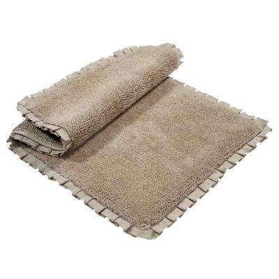 Verona Pleat Trim Linen 2 ft. x 3 ft. 4 in. 2-Piece Bath Rug Set