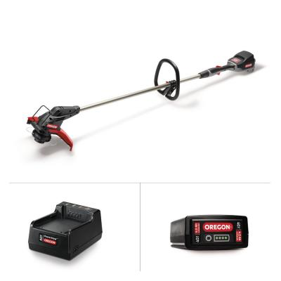 40-Volt Lithium-Ion Cordless Straight Shaft String Trimmer with 4.0 Ah Battery and Charger