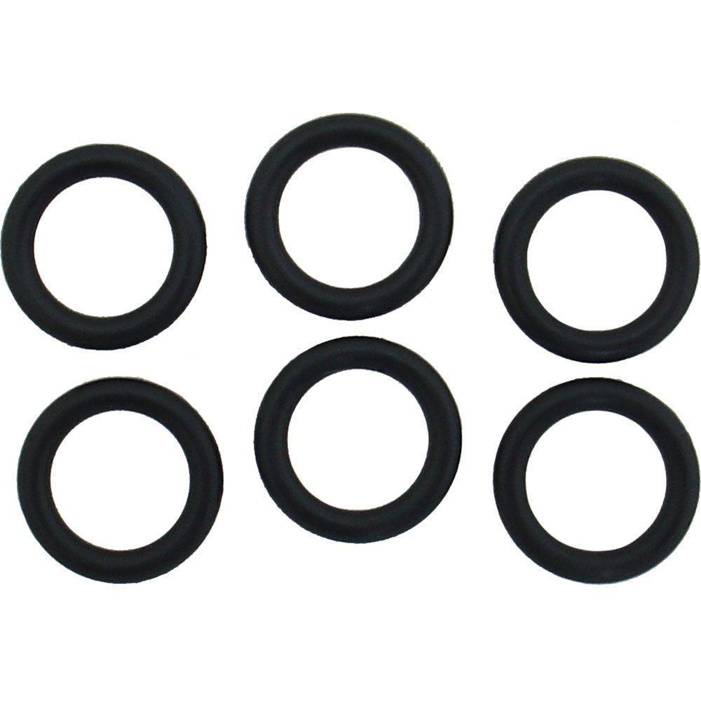PartsmasterPro 5/8 in. O.D. x 7/16 in. I.D. #209 Rubber O-Ring (6 ...