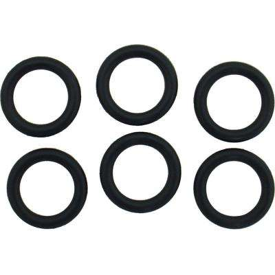 5/8 in. O.D. x 7/16 in. I.D. #209 Rubber O-Ring (6-Pack)
