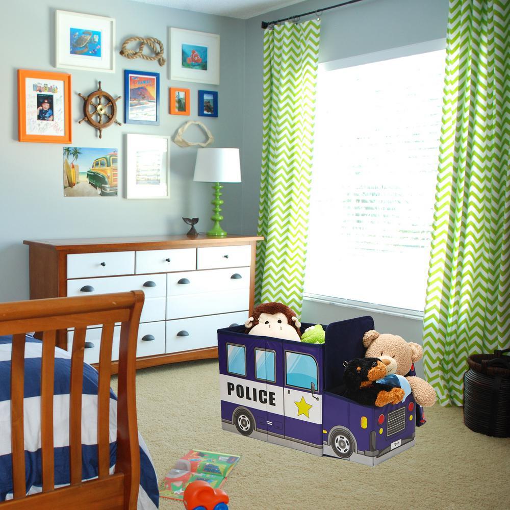 Mind Reader Blue Fabric Children\'s Favorite Cartoon Storage ...