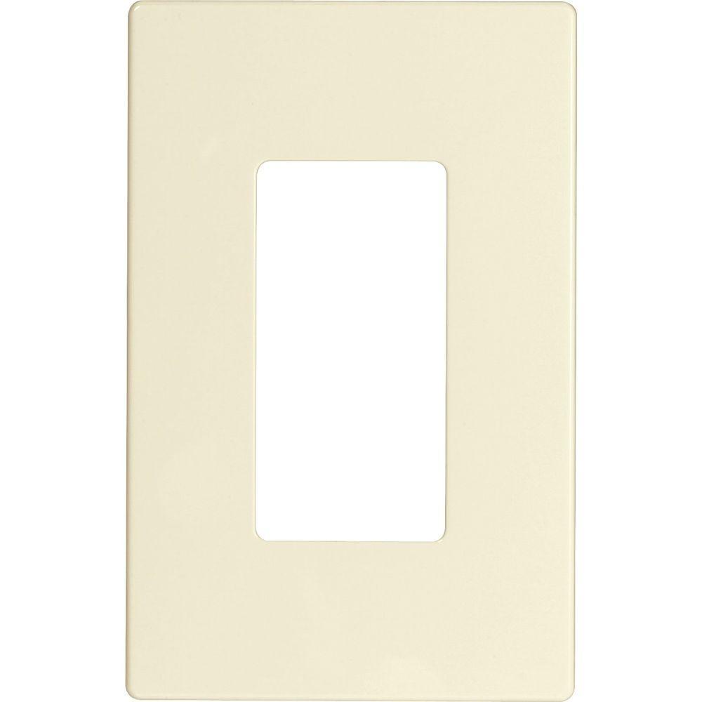 1-Gang Screwless Decorator Polycarbonate Wall Plate - Light Almond