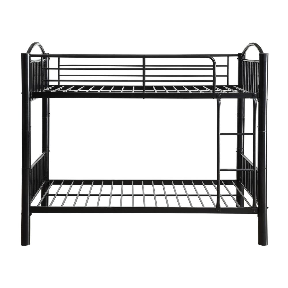 Acme Furniture Cayelynn Black Twin Over Twin Bunkbed 37385bk The