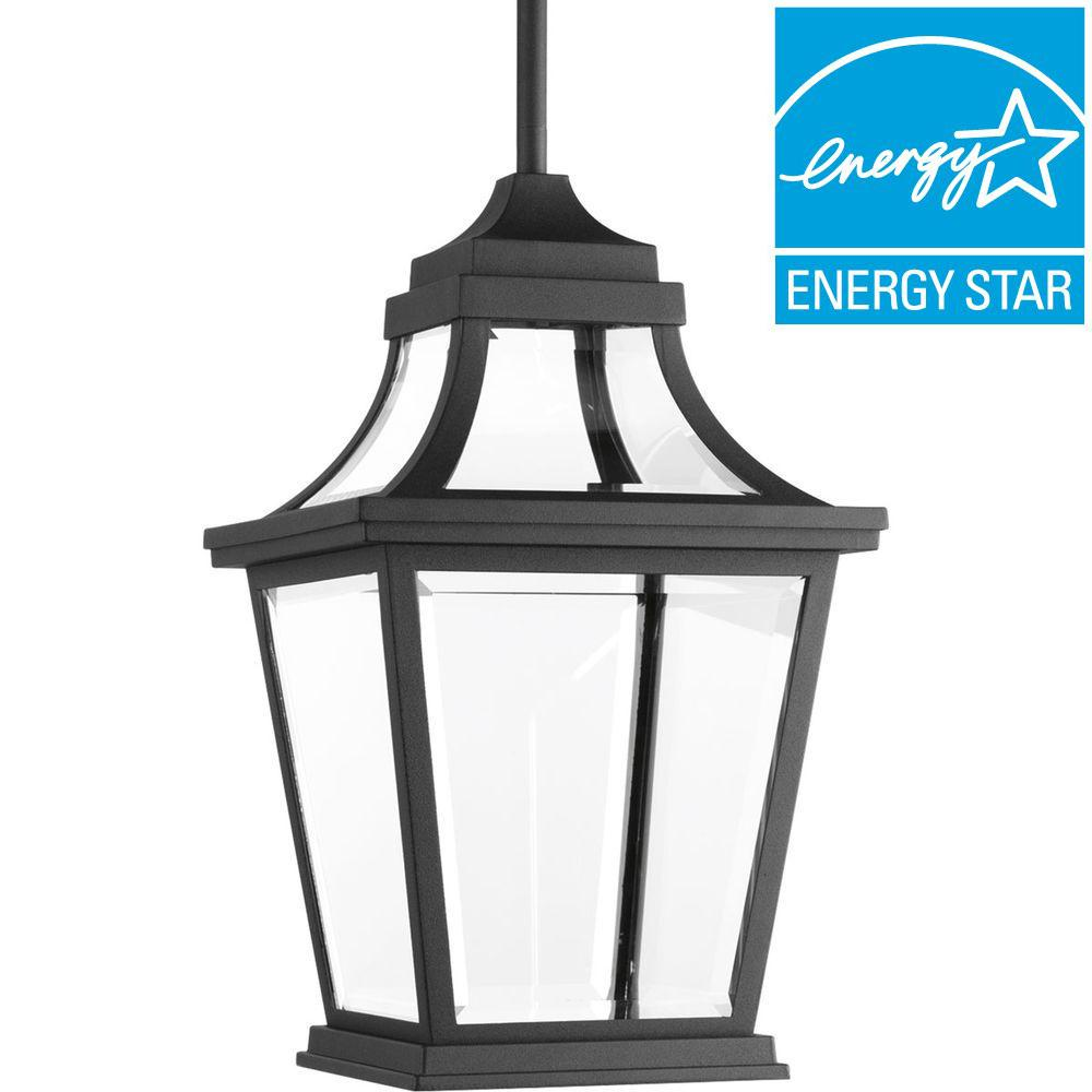 Endorse Collection 1-Light Outdoor Black LED Hanging Lantern