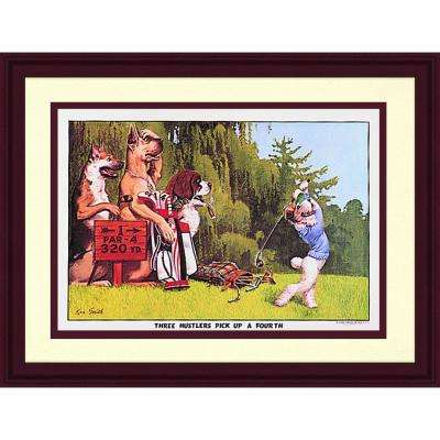 11.5.in x 20.5.in''Golfing Dogs I'' By PTM Images Framed Printed Wall Art