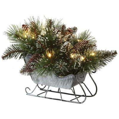 12 in. Glistening Pine Tabletop Sled