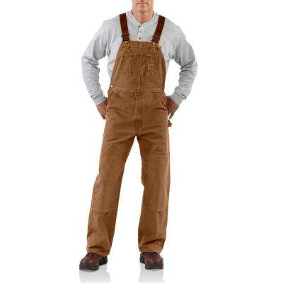 Men's 36x30 Carhartt Brown Cotton  Bib Overalls