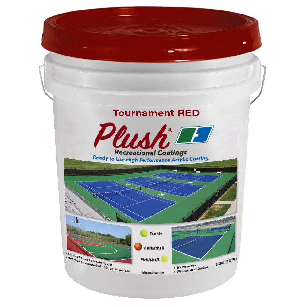 Plush 5 gal. Tournament Red Recreational Surface Coating