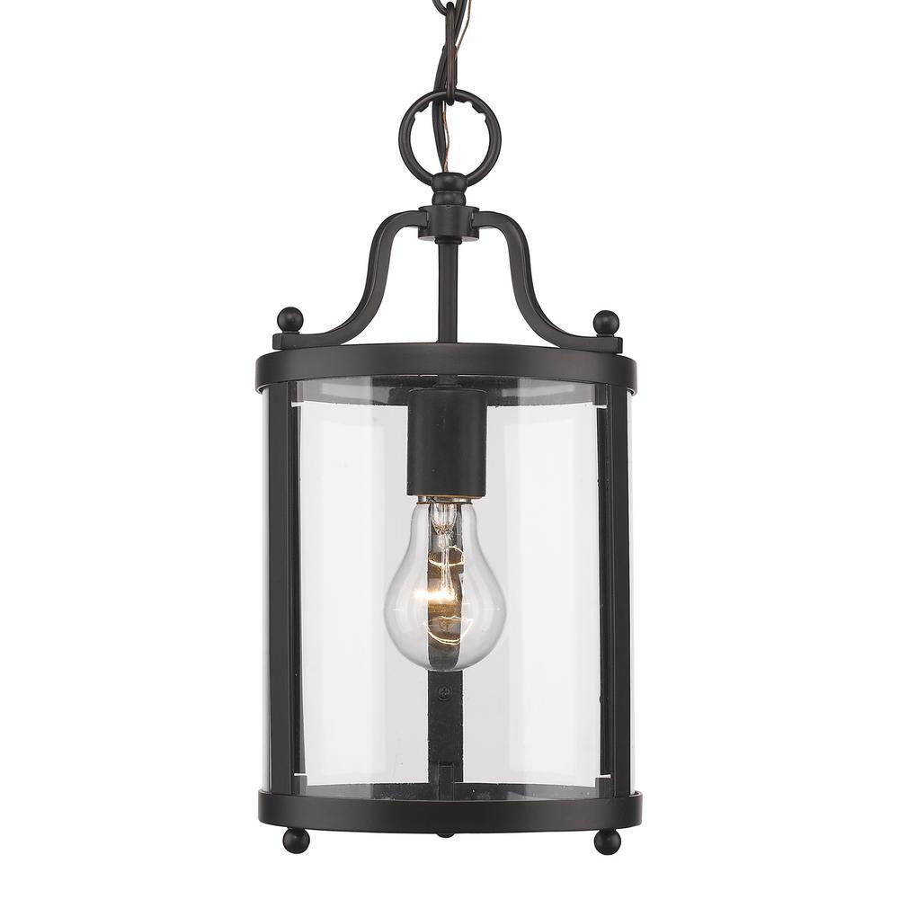 Golden Lighting Payton 1-Light Black Pendant