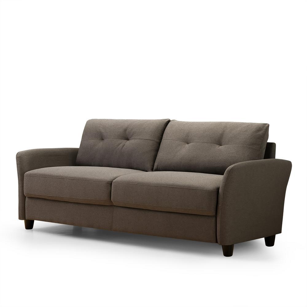 Ricardo 3-Seat Chestnut Brown Upholstered Sofa