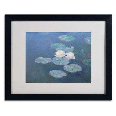 16 in. x 20 in. Waterlilies Evening Matted Black Framed Wall Art